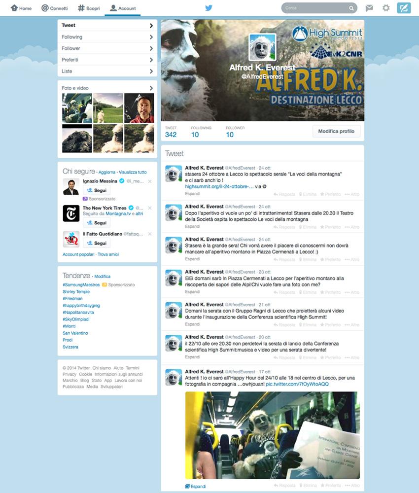 Everest - Personaggio per Campagna S.E.M. su Social Network