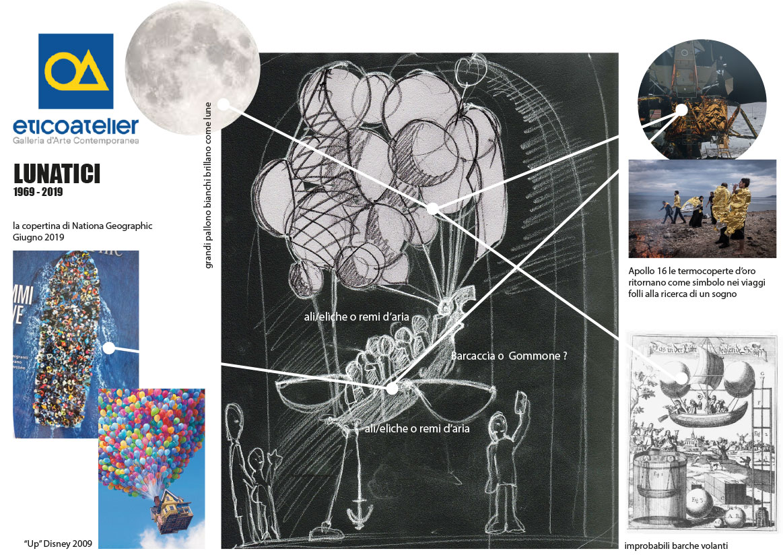 """Mappa progettuale """"I Lunatici"""" per Notte della Cultura 2019 Brescia"""